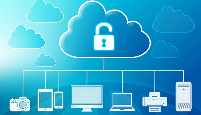 Technology cloud showing all things connected